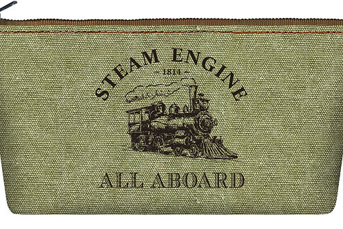 Steam Train Makeup/Pencil Bag