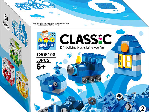 80pc Classic Color Blocks