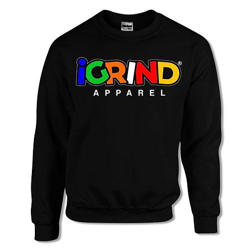 "iGrind Multi-Colored ""Varsity"" Crew Sweater"
