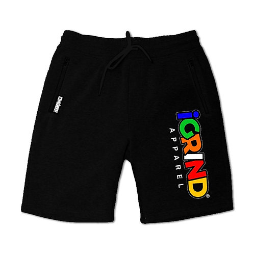 """iGrind """"MC"""" Embroidered Varsity Jogger Shorts"""