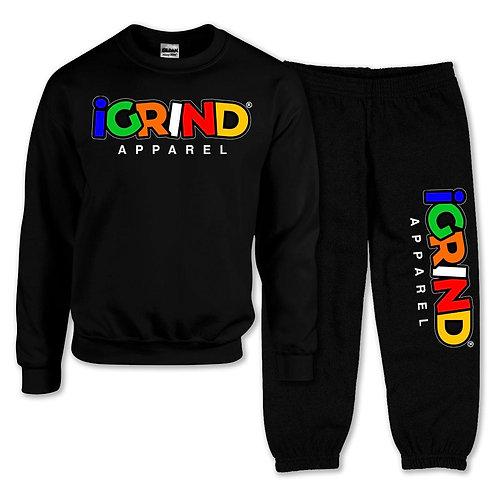 """iGrind """"Multicolored"""" Crew Sweatsuit"""