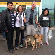 Lully and Bruno about to take their freedom flight from Lima Peru.