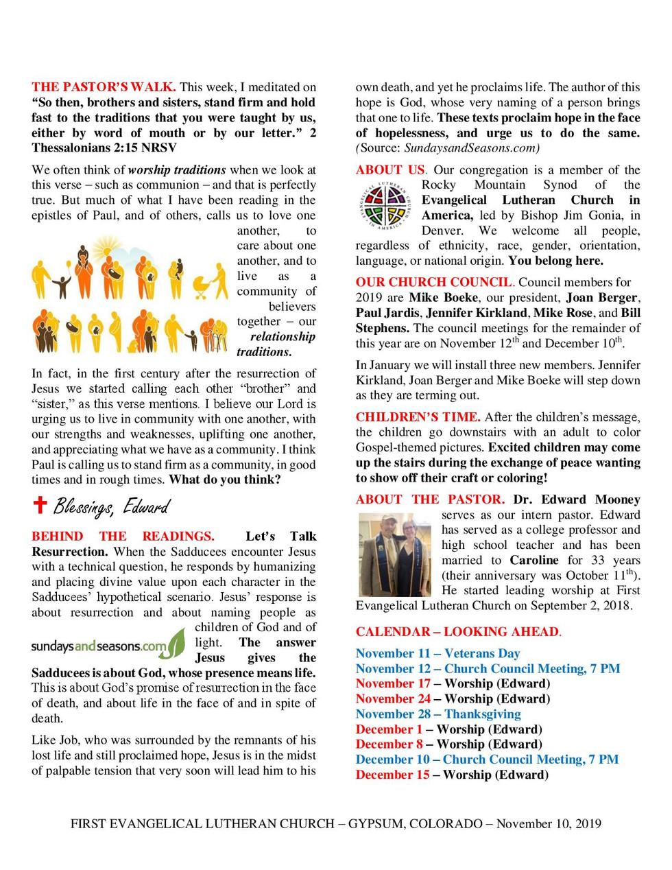 Newsletter - November 10, 2019, Page 2
