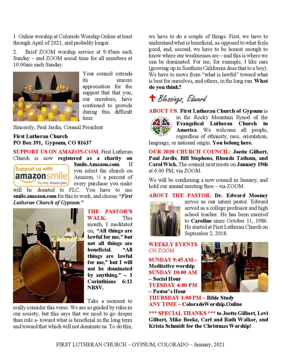 Newsletter, January, 2020, page 2