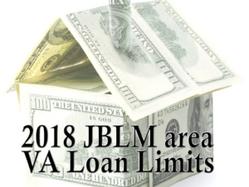 2018 VA Loan Limits – JBLM Area