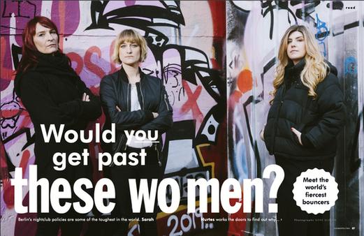 Cosmpolitan Magazine: Berlin Bouncers