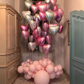 Helium hartballonnen ballooncloud bruiloftsstyling pastel balloons
