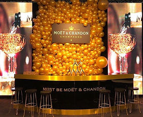 Balloon Backdrop Moët & Chandon
