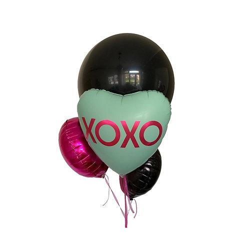 Mint Message balloon bouquet