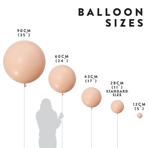 Balloon sizes