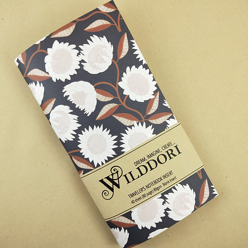 Wilddori 'Australian Florals Flower ' Blank Regular Traveler's Note
