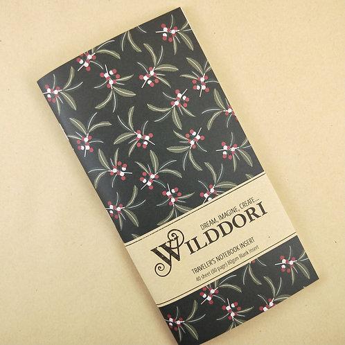 Wilddori 'Australian Florals Berries' Blank Regular Traveler's Notebook