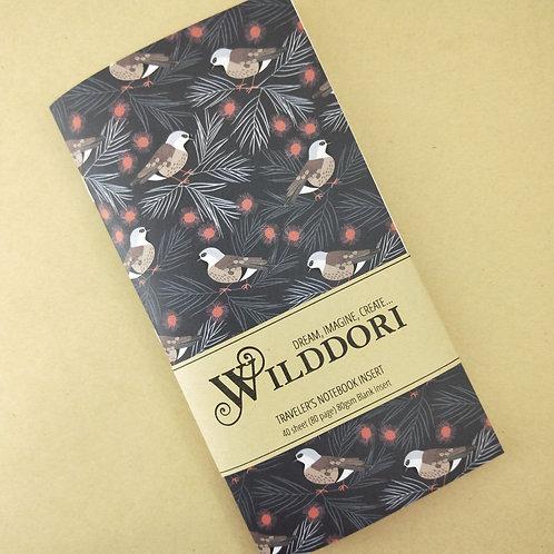 Wilddori 'Black Throated Finch' Blank Regular Traveler's Notebook Insert