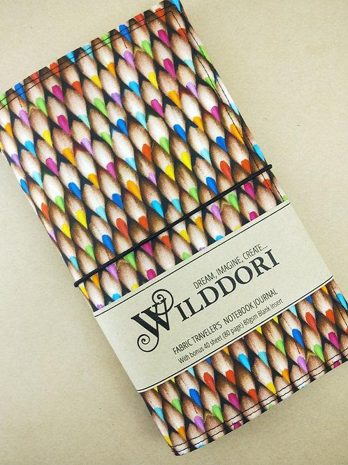 Wilddori 'Coloured Pencil Points' Traveler's Notebook Journal