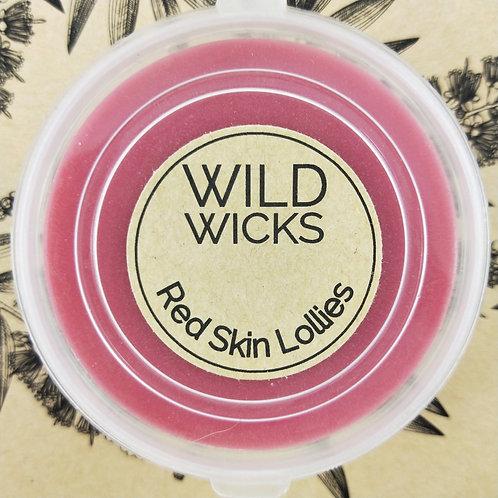 Wild Wicks Red Skin Lollies  Soy Shot