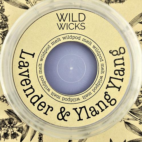 Wild Wicks Lavender & Ylang Ylang Wildpod Soy Melt