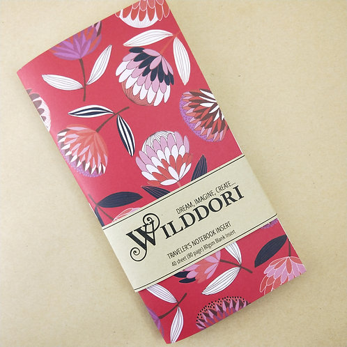 Wilddori 'Protea Red' Blank Regular Traveler's Notebook Insert