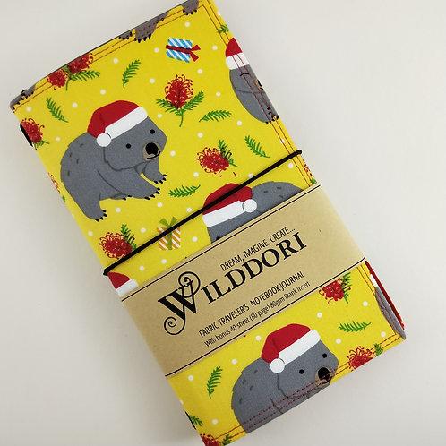 Wilddori 'Christmas Wombat' Traveler's Notebook Journal