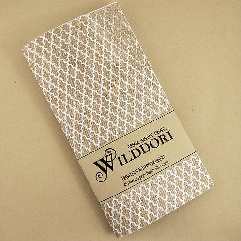 Wilddori 'Vintage Quatrefoil Pattern' Blank Regular Traveler's Notebook Inser