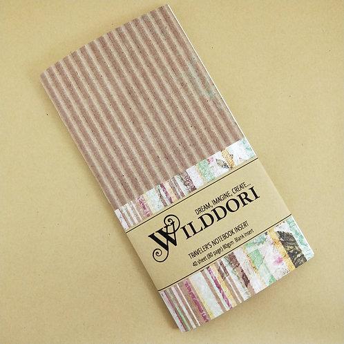 Wilddori 'Vintage Corrugation Stripes' Blank Regular Traveler's Notebook