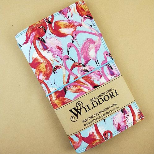 Wilddori 'Pink Flamingo' Traveler's Notebook Journal