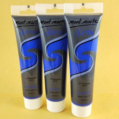 Mont Marte Satin Acrylic Paint 100ml - Ultramarine Blue