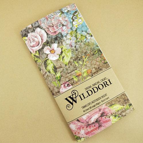 Wilddori 'Vintage Bird and Blooms' Blank Regular Traveler's Notebook