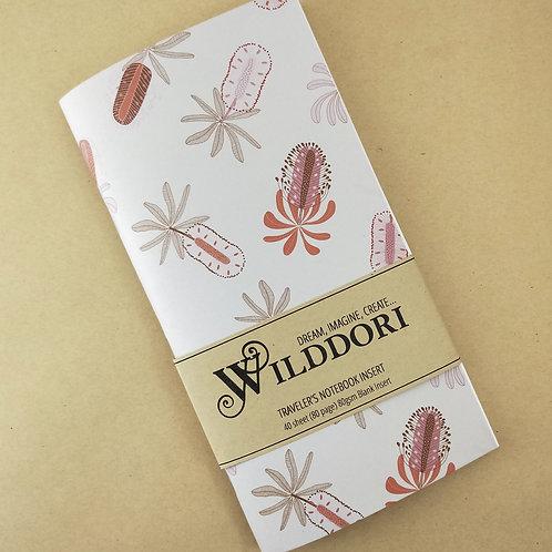 Wilddori 'Bottlebrush' Blank Regular Traveler's Notebook Insert