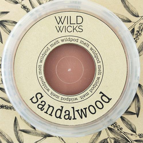 Wild Wicks Sandalwood Wildpod Soy Melt