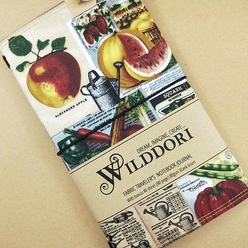 Wilddori 'Vintage Fruit N Veg' Traveler's Notebook Journal