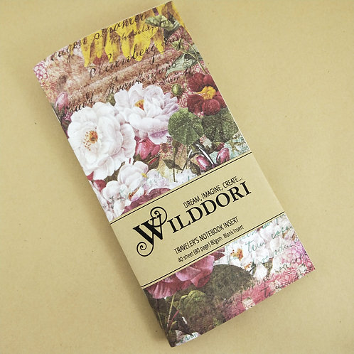 Wilddori 'Vintage Blossoms' Blank Regular Traveler's Notebook