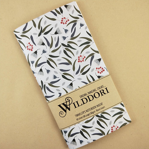 Wilddori 'Australian Florals Gum' Blank Regular Traveler's Notebook