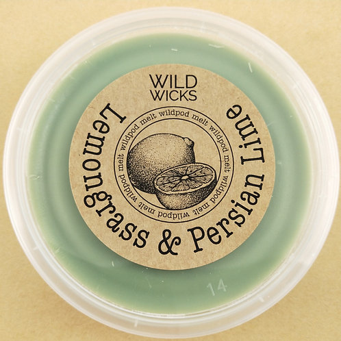 Lemongrass & Persian Lime Wildpod Soy Wax Melt