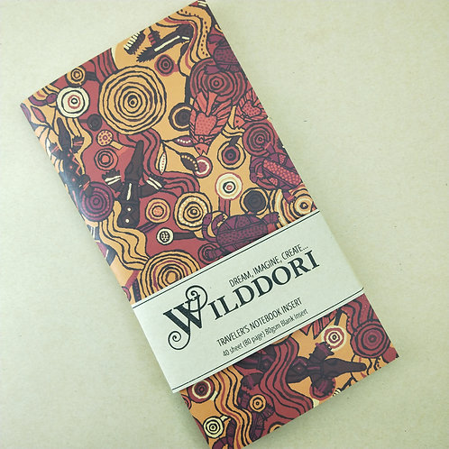 Wilddori 'Reef Dreaming' Blank Regular Traveler's Notebook Inser