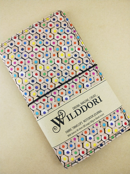 Wilddori 'Coloured Pencil Ends' Traveler's Notebook Journal