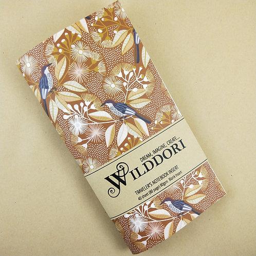 Wilddori 'Australian Florals Bird in Blooms ' Blank Regular Traveler's Note