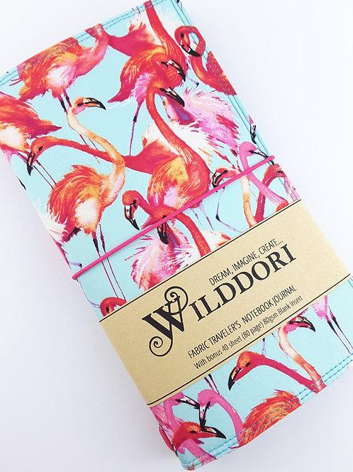 Wilddori 'Flamingo Fair' Traveler's Notebook Journal