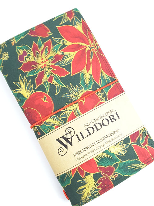 Wilddori 'Christmas Poinsettia' Traveler's Notebook Journal