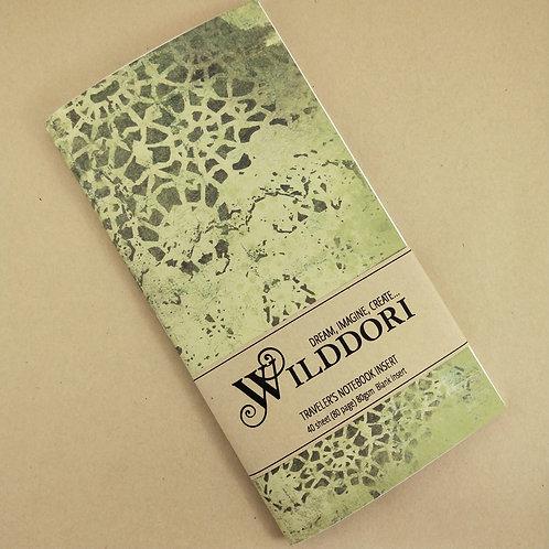 Wilddori 'Vintage Green Mandala' Blank Regular Traveler's Notebook Inser
