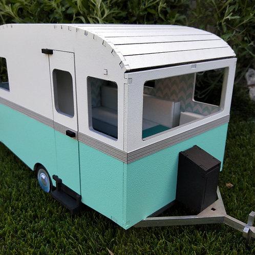 Retro Mini Caravan DIY Wooden Kit