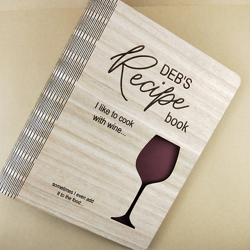 Personalized Tasmanian Oak Veneer A5 Recipe Book Binder
