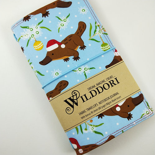 Wilddori 'Christmas Platypus' Traveler's Notebook Journal