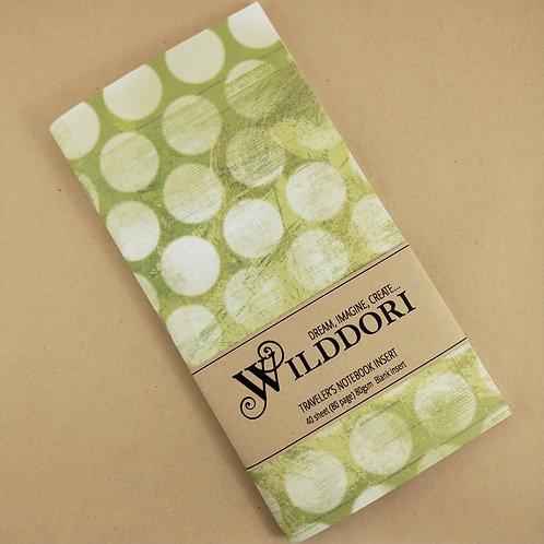 Wilddori 'Vintage Green Spot' Blank Regular Traveler's Notebook Inser
