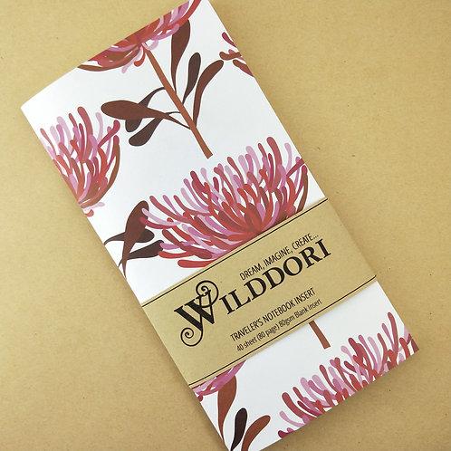 Wilddori 'Tree Waratah' Blank Regular Traveler's Notebook Inser