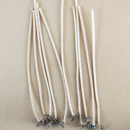CDN 8 - 15cm Tabbed Candle Wick - Pack of 10