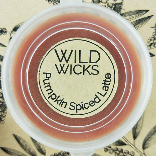 Wild Wicks Pumpkin Spiced Latte  Wildshot Soy Melt