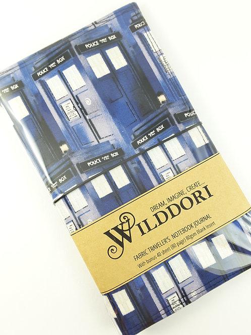 Wilddori 'Big Blue Police Box ' Traveler's Notebook Journal