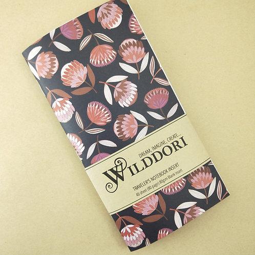 Wilddori 'Protea Dark' Blank Regular Traveler's Notebook Insert