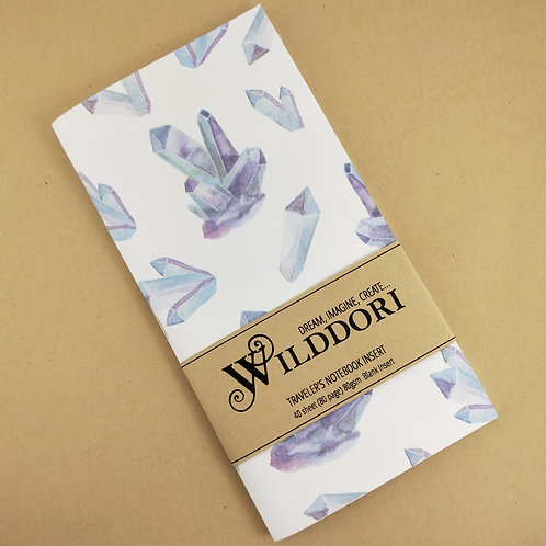 Wilddori 'Crystal Wonderland Wishes' Blank Regular Traveler's No