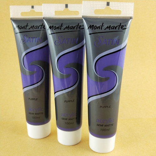 Mont Marte Satin Acrylic Paint 100ml - Purple